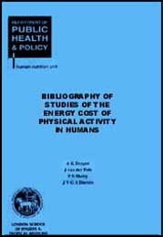 Bibliography of Studies of the Energy Cost of Physical
